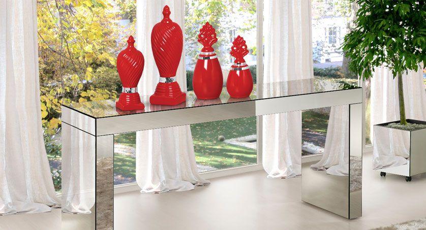 Aparador De Espelho Lapidado Para Sala 150x35x85 Sem Gaveta