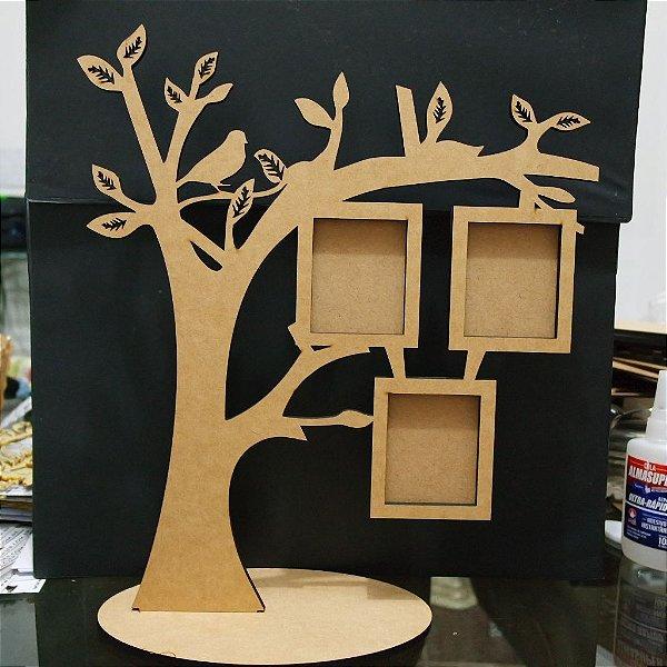 Porta Retrato Árvore para 3 Fotos Sem Personalização