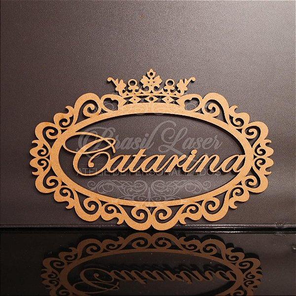 Placa / Moldura Personalizada Para Parede Vários Tamanhos / Materiais com o Nome ou Inicial que o Cliente Desejar