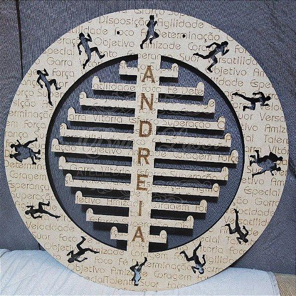 Porta Medalhas Corrida Estilo Mandala Personalizado