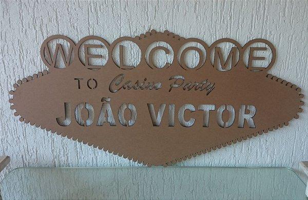 Placa / Moldura Las Vegas Casino Personalizada Para Parede Vários Tamanhos / Materiais com o Nome ou Inicial que o Cliente Desejar
