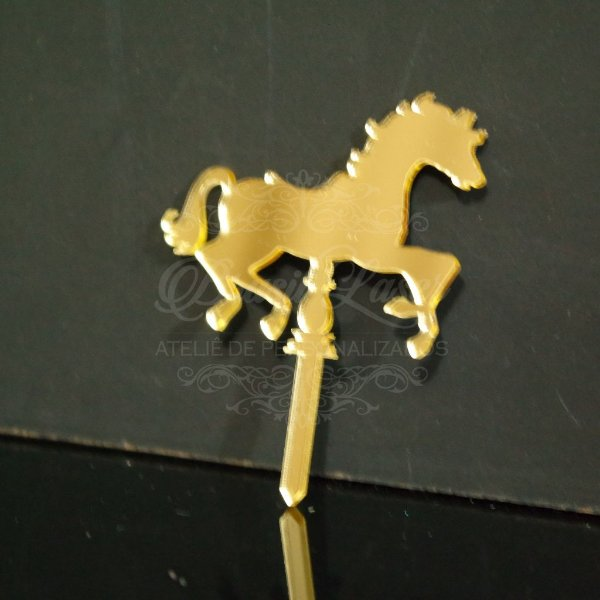 10 Enfeites de Fincar para Docinhos ou Cupcake - Cavalinho de Carrossel (5 cm Largura) - Opções de cores dentro do anuncio!