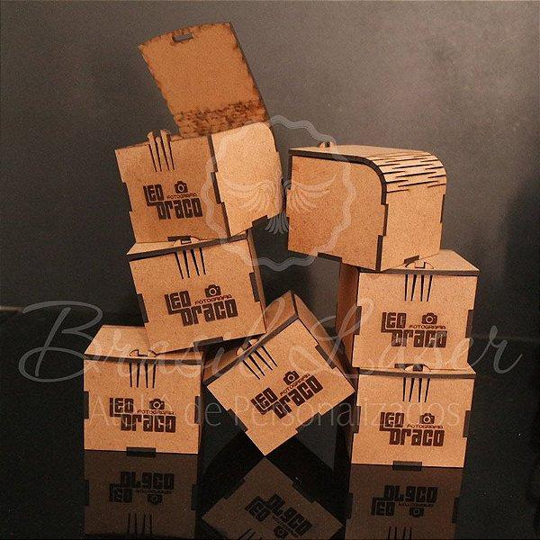 10 Caixinhas Em Mdf Com Gravação Na Tampa Personalizada 7x6,5x6cm