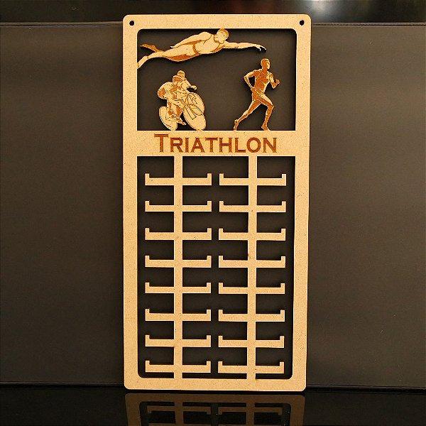 Novo Porta Medalhas TRIATHLON Personalizado Tamanho 29cmx60cm Aprox.80 Medalhas