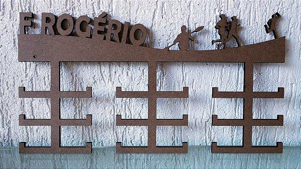 Porta Medalhas Remo + Corrida Personalizado Tamanho 45cmx23,7cm Aprox. 36 Medalhas