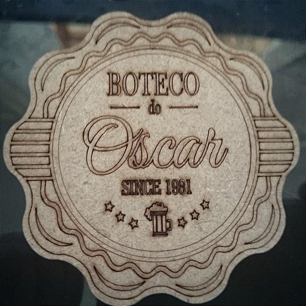 100 Porta Copos BOTECO Cerveja Personalizado (Nome e Ano)