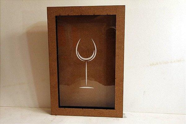 Mini Quadro para Rolhas de Vinho