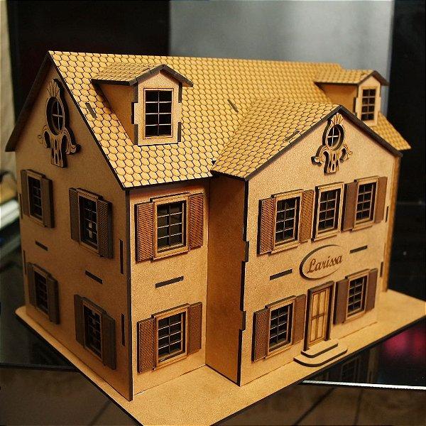 Casa 3d Personalizada com o nome