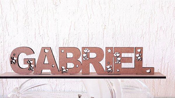 Nomes com base em MDF 6mm com Ursinhos - Tamanhos disponibilizados na opção do anúncio