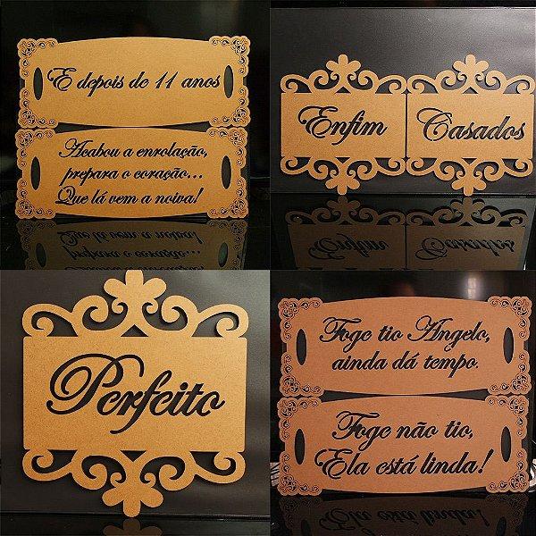 Kit 2 Placas de Cadeira + 2 Placas de Daminhas - Pintada ou Sem pintura