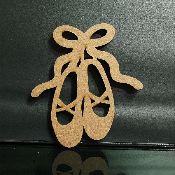 Sapatilha de Bailarina Decorativo em Mdf - Vários Tamanhos