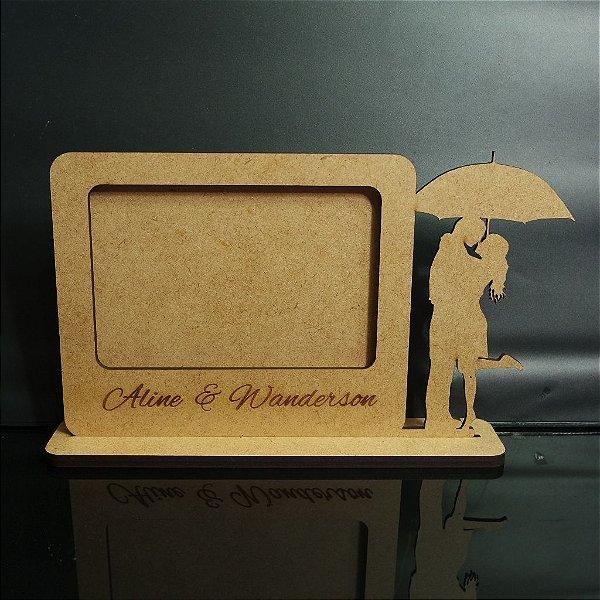 1 Porta Retrato Personalizado com o Nome dos Noivos gravados no mdf