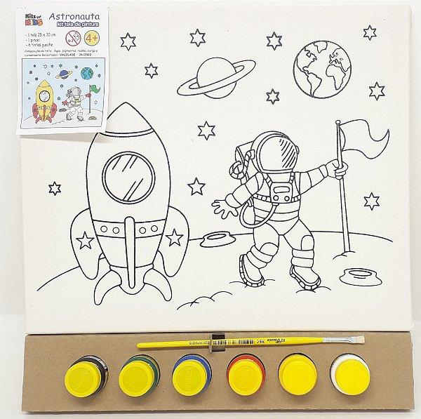 Tela de Pintura 25 x 30cm - Astronauta
