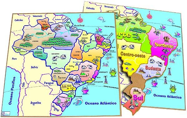 Quebra Cabeça Mapa Regiões