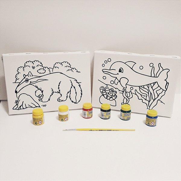 Tela de Pintura - Kit 2 telas Tamanduá - Boto