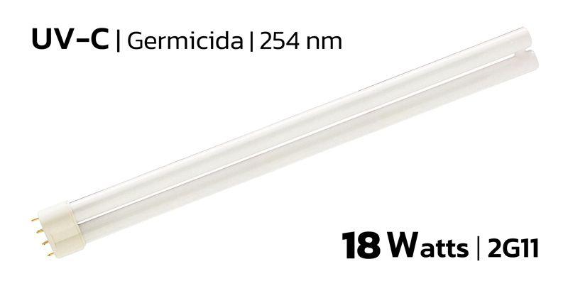 Lâmpada Ultravioleta Germicida | 18w | 2G11 | 254nm | UVC