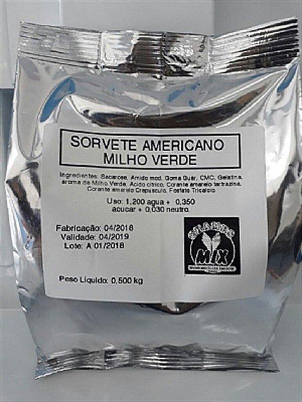 Base Mix Sorvete Americano MILHO VERDE
