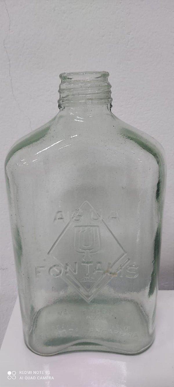 Garrafa de Vidro Para Água Fabricada nos anos 50