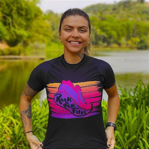 Camisa Running Feminina Baby Look Vezzo Messenger