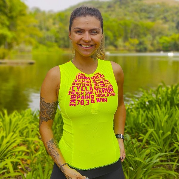 Top Triathlon Feminino Vezzo AWA Rosa