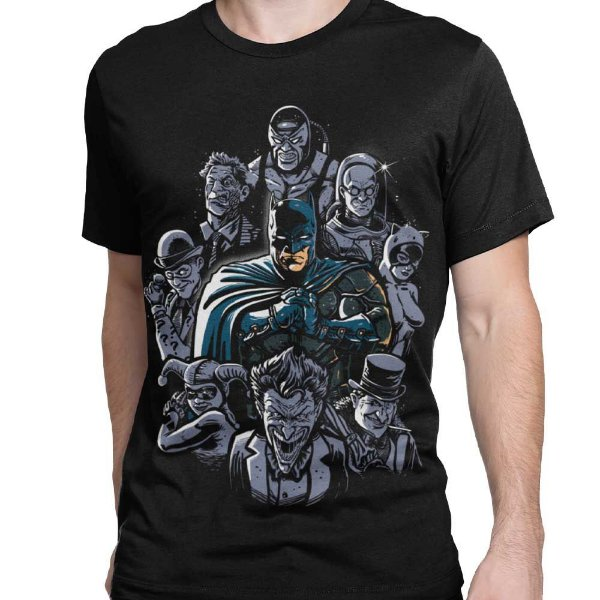 Camiseta Batman - Vilões