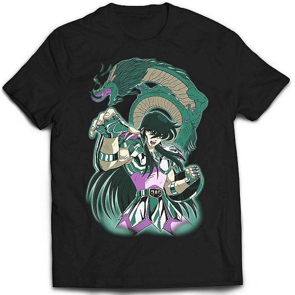 Camiseta Cavaleiros do Zodíaco - Dragão Shiryu