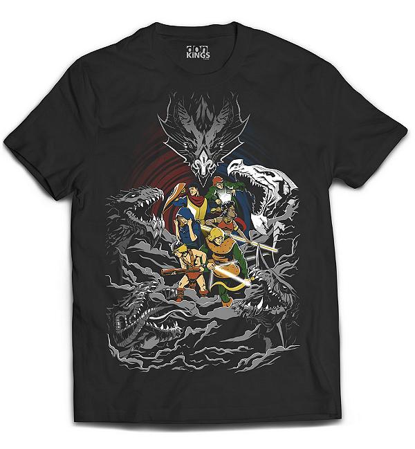 Camiseta Caverna do Dragão - Dungeons & Dragons