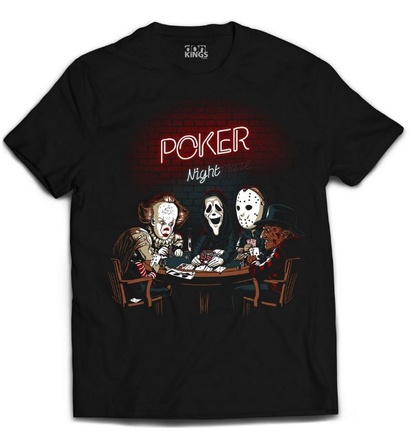 Camiseta Terror - Poker Nightmare