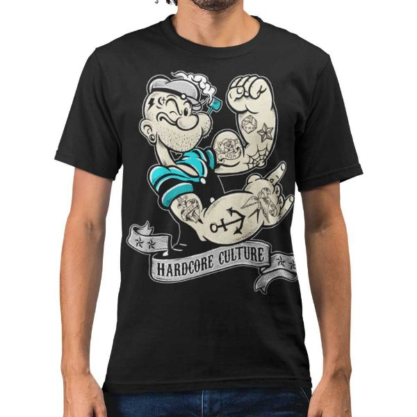 Camiseta Popeye - Hardcore Culture