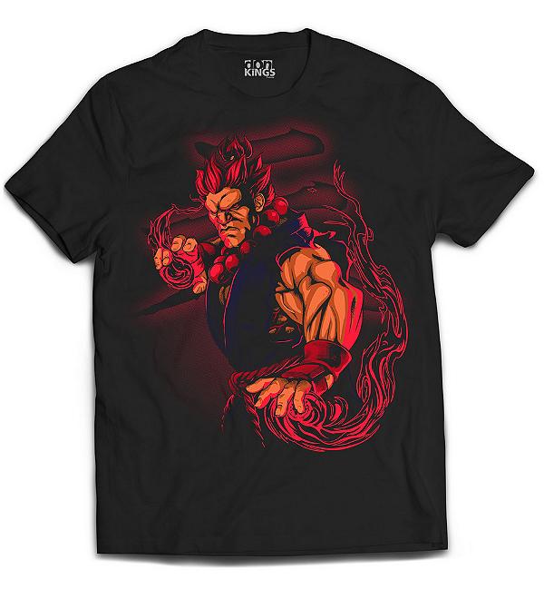 Camiseta Street Fighter - Akuma