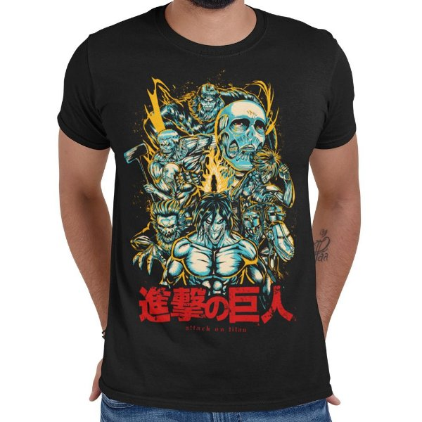 Camiseta Shingeki no Kyojin - Attack On Titan