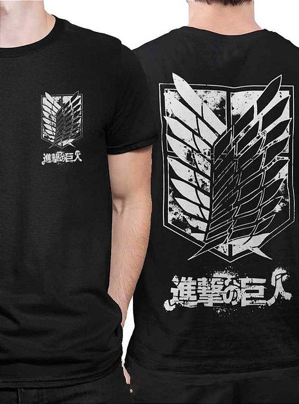 Camiseta Tropa de Exploração Escudo - Attack On Titan