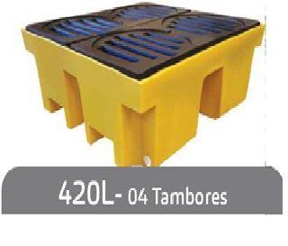 Pallet de Contenção 4 Tambores 420L