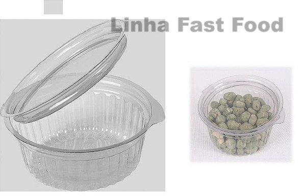 Embalagem Cristal –   Pote Redondo 250ml  Articulado  Com 200 unidades