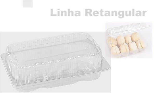 Embalagem Cristal –   Retangular pequena alta  Articulado  Com 100 unidades