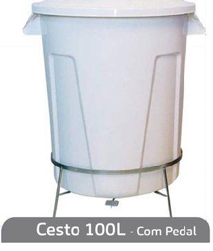 Cesto 100L (Com Pedal)