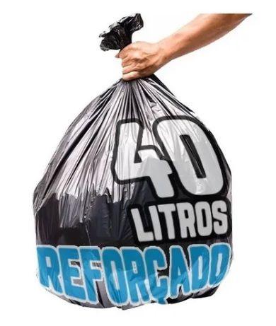 Saco de Lixo 40L Reforçado