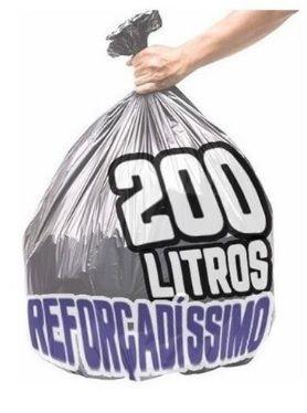 Saco de Lixo 200L Reforçado