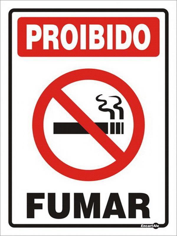 Placa Proibido Fumar 15X20cm