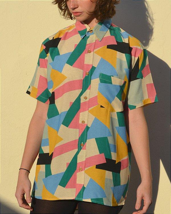 Camisa Estampada Popova Manga Curta