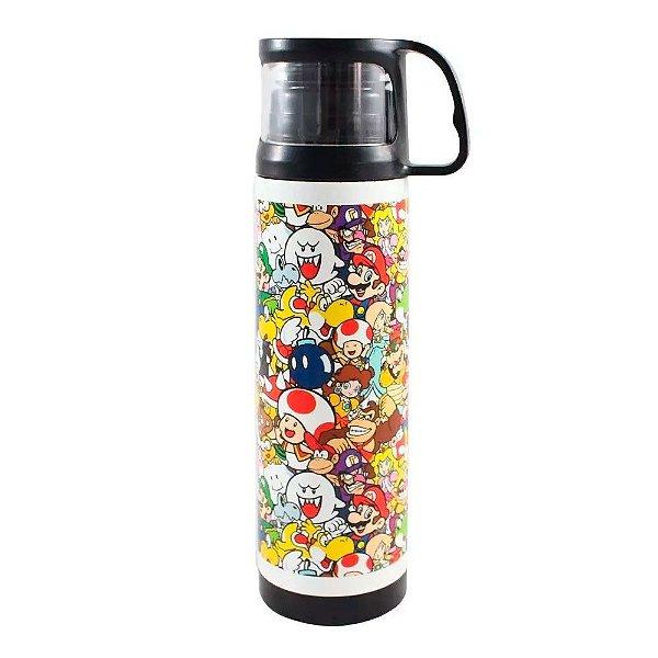 Garrafa Térmica com Caneca Super Mario World
