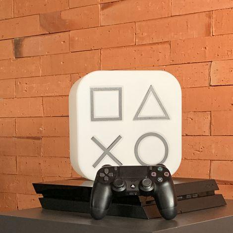 Box PlayStation luminária natural
