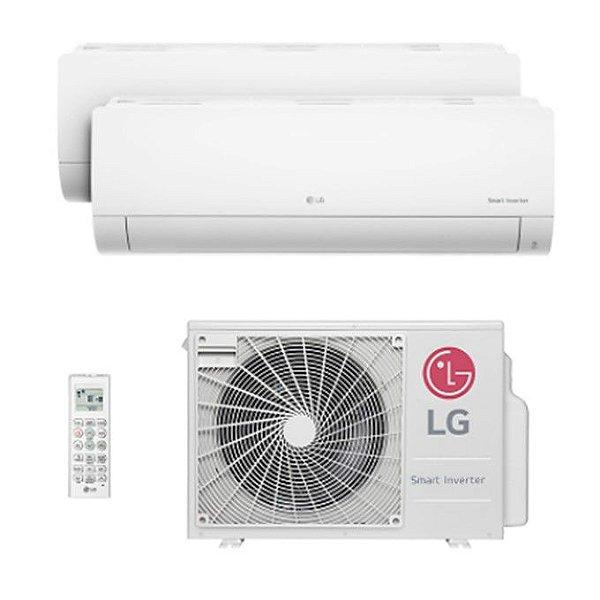 Ar Condicionado Multi Bi Split Hw Inverter Lg 2x12000 Btus Quente/frio 220V Monofasico