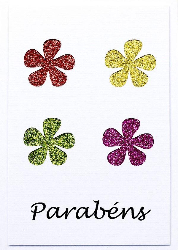 Cartão Parabens Flores