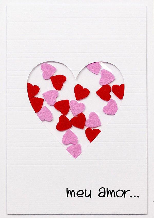 Cartão Janela de Corações
