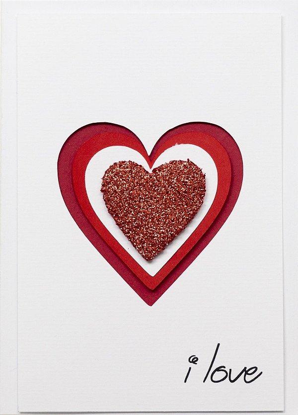 Cartão I love Bate Coração