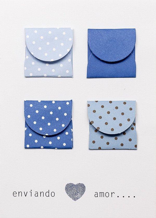 Cartão Envelope azul
