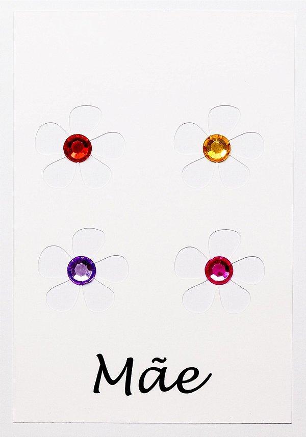 Cartão Mãe Flor Cristal