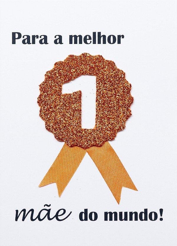Cartão Medalha Mãe