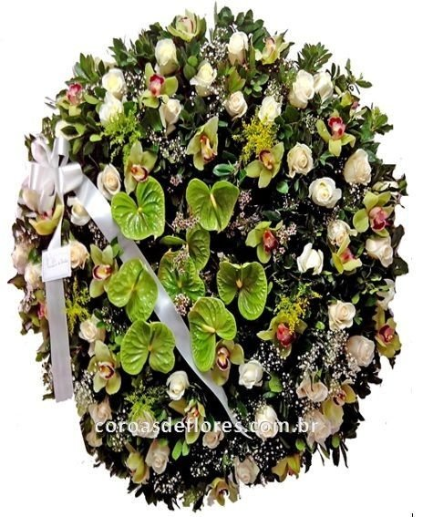 Coroa de Flores 15 ( Orquideas )